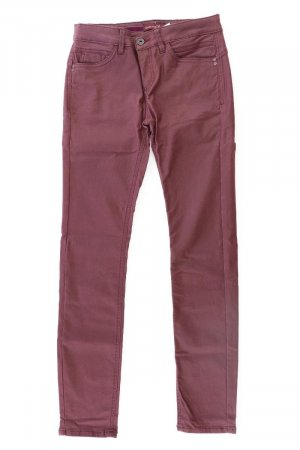 Street One Faux Leather Trousers lilac-mauve-purple-dark violet viscose