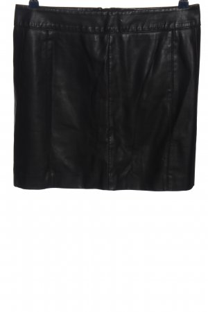 Street One Falda de cuero de imitación negro look efecto mojado