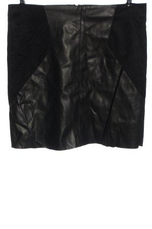 Street One Spódnica z imitacji skóry czarny W stylu casual