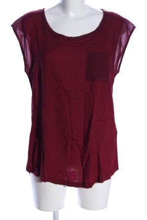 Street One Kurzarm-Bluse rot Elegant
