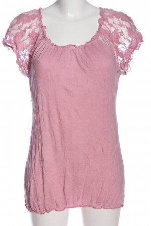 Street One Kurzarm-Bluse pink Casual-Look