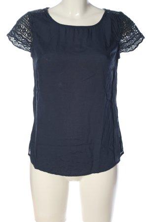 Street One Kurzarm-Bluse blau Casual-Look
