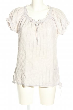 Street One Kurzarm-Bluse creme Allover-Druck Casual-Look