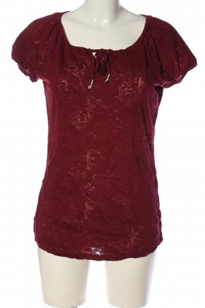 Street One Kurzarm-Bluse rot Casual-Look