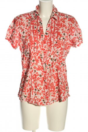 Street One Kurzarm-Bluse Allover-Druck Casual-Look