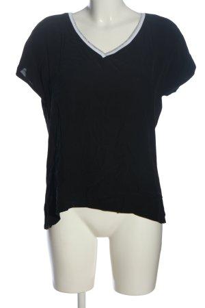 Street One Kurzarm-Bluse schwarz-weiß Casual-Look