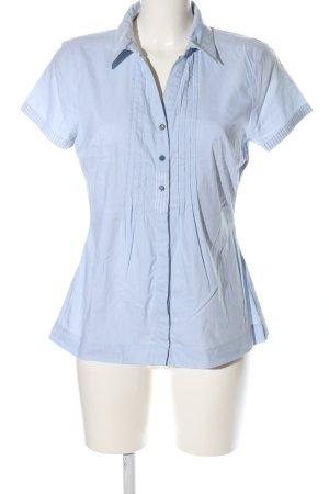 Street One Kurzarm-Bluse blau Business-Look