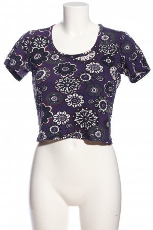 Street One Cropped Top Allover-Druck Casual-Look
