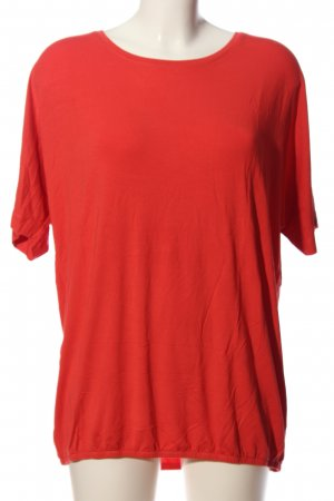 Street One Kurzarm-Bluse rot Business-Look
