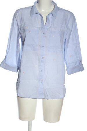 Street One Kurzarmhemd blau Casual-Look