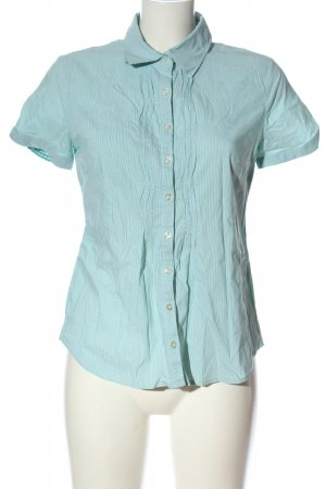 Street One Kurzarmhemd blau-weiß Streifenmuster Casual-Look