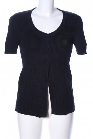 Street One Short Sleeve Knitted Jacket black cable stitch casual look