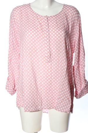 Street One Langarm-Bluse pink-weiß Punktemuster Casual-Look