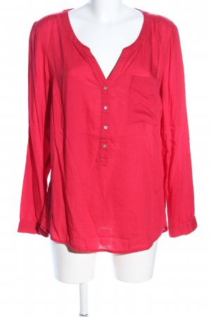 Street One Langarm-Bluse rot Business-Look