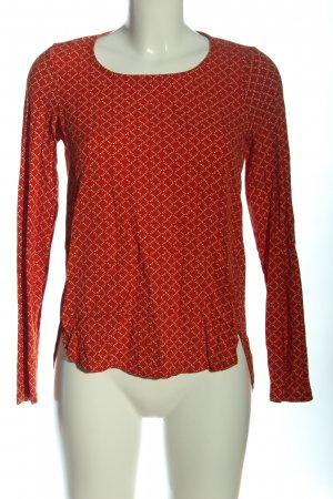 Street One Langarm-Bluse rot-nude Allover-Druck Casual-Look