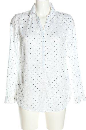 Street One Langarm-Bluse weiß-schwarz Punktemuster Casual-Look