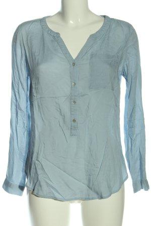 Street One Langarm-Bluse blau Casual-Look