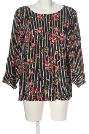 Street One Langarm-Bluse weiß-pink Blumenmuster Casual-Look