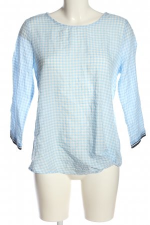 Street One Langarm-Bluse blau-weiß Allover-Druck Casual-Look