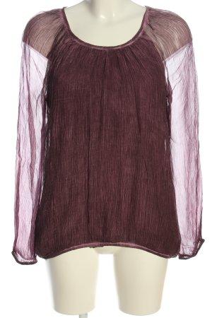 Street One Langarm-Bluse lila Casual-Look