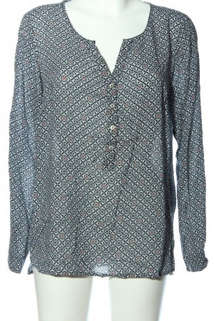 Street One Langarm-Bluse abstraktes Muster Casual-Look