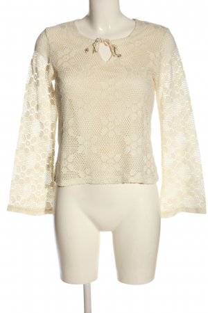 Street One Langarm-Bluse creme Allover-Druck Casual-Look