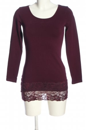 Street One Langarm-Bluse rot Casual-Look