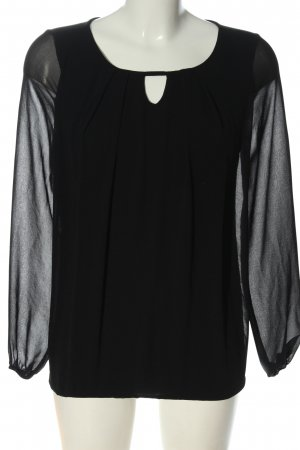 Street One Langarm-Bluse schwarz Elegant