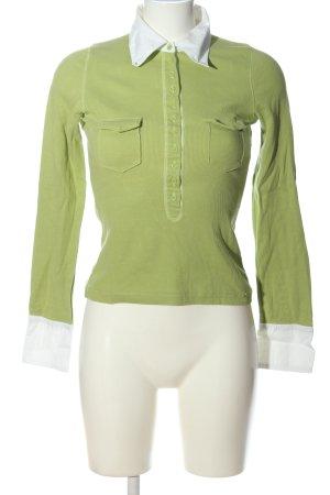 Street One Langarm-Bluse grün-weiß Casual-Look