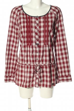 Street One Langarm-Bluse rot-weiß Allover-Druck Casual-Look