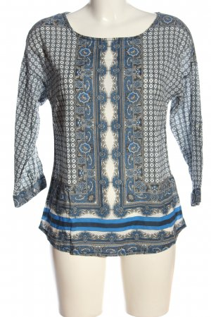 Street One Langarm-Bluse Allover-Druck Casual-Look