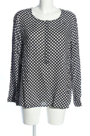 Street One Langarm-Bluse schwarz-weiß Allover-Druck Casual-Look