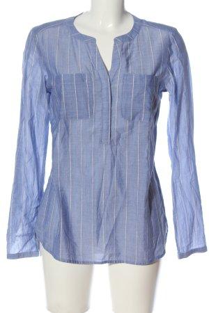 Street One Langarm-Bluse blau Streifenmuster Business-Look