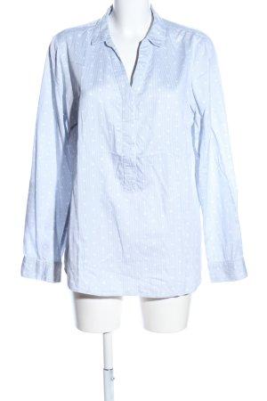 Street One Langarmhemd blau-weiß Punktemuster Casual-Look