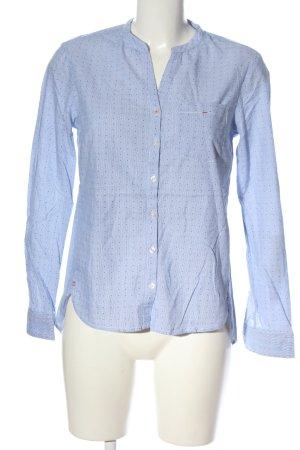 Street One Langarmhemd blau-weiß Allover-Druck Business-Look