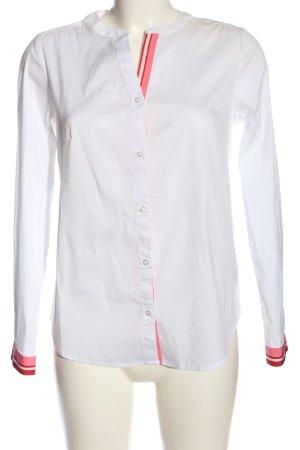 Street One Langarmhemd weiß-pink Business-Look