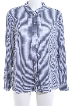 Street One Langarmhemd blau-weiß Streifenmuster Business-Look