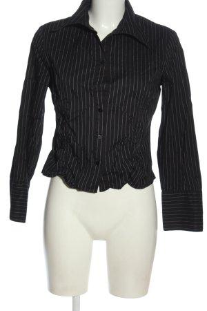 Street One Langarmhemd schwarz-weiß Allover-Druck Business-Look