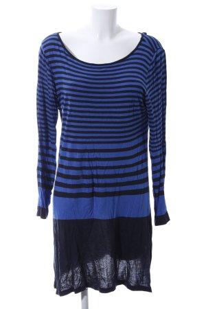 Street One Langarmkleid blau-schwarz Streifenmuster Casual-Look