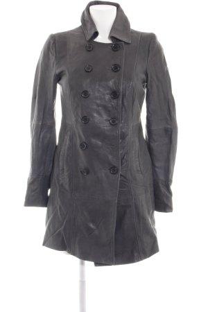 Street One Abrigo de cuero gris claro look casual