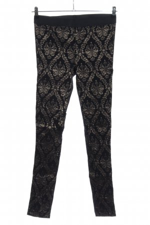 Street One Leggings schwarz-silberfarben abstraktes Muster Elegant