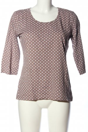 Street One Lang shirt lichtgrijs-wit gestippeld patroon casual uitstraling