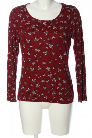 Street One Longsleeve red-white allover print casual look
