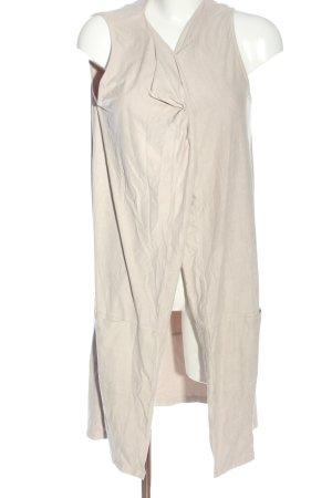 Street One Gilet long tricoté blanc cassé style décontracté