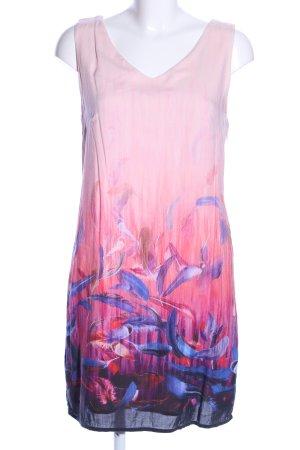 Street One Midikleid pink-blau abstraktes Muster Elegant