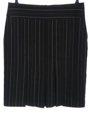Street One Spódnica midi czarny-biały Wzór w paski W stylu casual