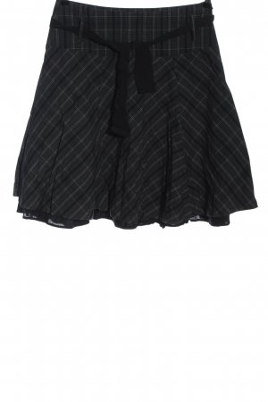 Street One Flared Skirt light grey-black check pattern casual look
