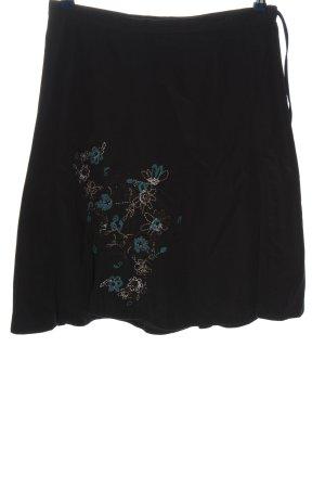 Street One Spódnica midi czarny Wzór w kwiaty W stylu casual