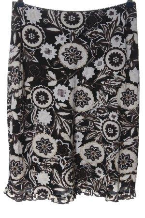 Street One Spódnica midi czarny-biały Na całej powierzchni W stylu casual