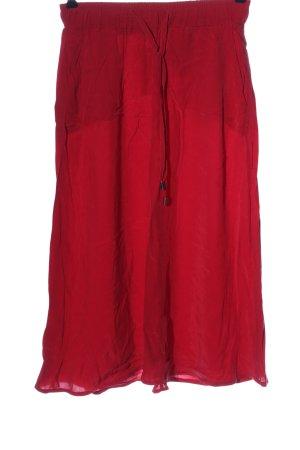 Street One Spódnica midi czerwony W stylu casual